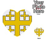 Jerusalem Cross Multi-purpose Cards (Heart)  Back 1