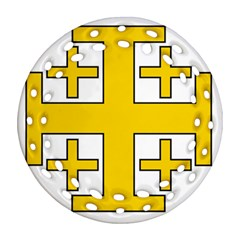 Jerusalem Cross Ornament (round Filigree)  by abbeyz71