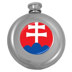 Slovak Air Force Roundel Round Hip Flask (5 Oz) by abbeyz71