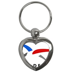 Logo Of The French Air Force (armee De L air) Key Chains (heart)