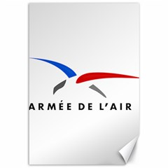 Logo Of The French Air Force (armee De L air) Canvas 12  X 18   by abbeyz71