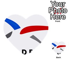 Logo Of The French Air Force (armee De L air) Multi-purpose Cards (heart)