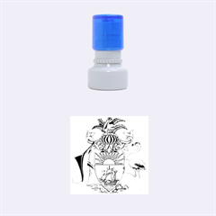 Coat Of Arms Of The Bahamas Rubber Round Stamps (small)