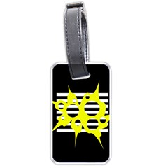 Yellow Abstraction Luggage Tags (one Side)
