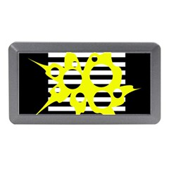 Yellow Abstraction Memory Card Reader (mini) by Valentinaart