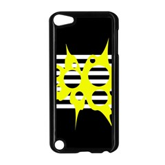 Yellow Abstraction Apple Ipod Touch 5 Case (black) by Valentinaart
