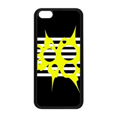 Yellow Abstraction Apple Iphone 5c Seamless Case (black) by Valentinaart