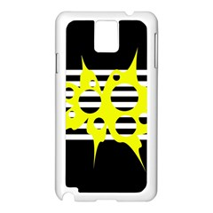 Yellow Abstraction Samsung Galaxy Note 3 N9005 Case (white) by Valentinaart