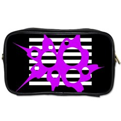 Purple Abstraction Toiletries Bags