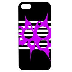 Purple Abstraction Apple Iphone 5 Hardshell Case With Stand by Valentinaart