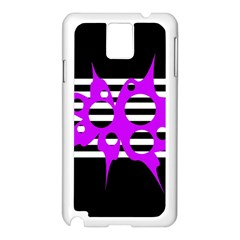 Purple Abstraction Samsung Galaxy Note 3 N9005 Case (white) by Valentinaart