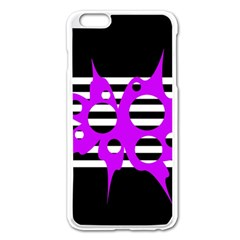 Purple Abstraction Apple Iphone 6 Plus/6s Plus Enamel White Case by Valentinaart