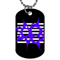 Blue Abstract Design Dog Tag (one Side) by Valentinaart