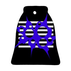 Blue Abstract Design Bell Ornament (2 Sides) by Valentinaart