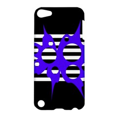 Blue Abstract Design Apple Ipod Touch 5 Hardshell Case by Valentinaart