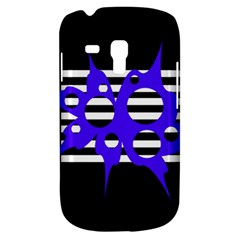 Blue Abstract Design Samsung Galaxy S3 Mini I8190 Hardshell Case by Valentinaart