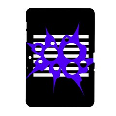 Blue Abstract Design Samsung Galaxy Tab 2 (10 1 ) P5100 Hardshell Case  by Valentinaart