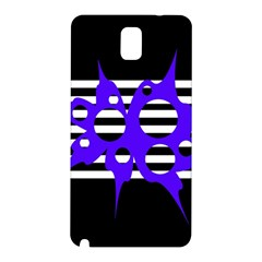 Blue Abstract Design Samsung Galaxy Note 3 N9005 Hardshell Back Case by Valentinaart