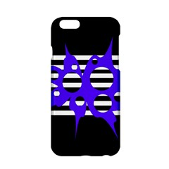 Blue Abstract Design Apple Iphone 6/6s Hardshell Case by Valentinaart