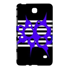 Blue Abstract Design Samsung Galaxy Tab 4 (7 ) Hardshell Case  by Valentinaart