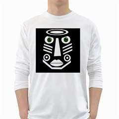 Mask White Long Sleeve T-shirts by Valentinaart