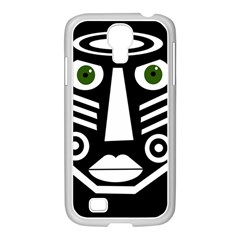 Mask Samsung Galaxy S4 I9500/ I9505 Case (white) by Valentinaart