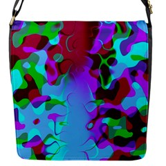 Abstract Colorsplash Flap Closure Messenger Bag (small) by tjustleft