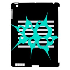 Cyan Abstract Design Apple Ipad 3/4 Hardshell Case (compatible With Smart Cover) by Valentinaart