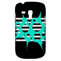 Cyan Abstract Design Samsung Galaxy S3 Mini I8190 Hardshell Case by Valentinaart