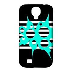 Cyan Abstract Design Samsung Galaxy S4 Classic Hardshell Case (pc+silicone) by Valentinaart