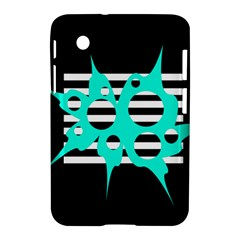 Cyan Abstract Design Samsung Galaxy Tab 2 (7 ) P3100 Hardshell Case  by Valentinaart
