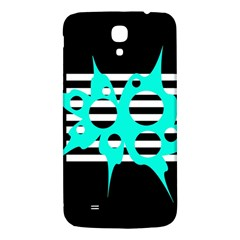 Cyan Abstract Design Samsung Galaxy Mega I9200 Hardshell Back Case by Valentinaart