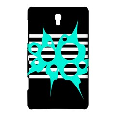 Cyan Abstract Design Samsung Galaxy Tab S (8 4 ) Hardshell Case  by Valentinaart