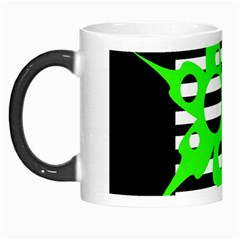 Green Abstract Design Morph Mugs by Valentinaart