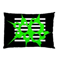 Green Abstract Design Pillow Case (two Sides) by Valentinaart