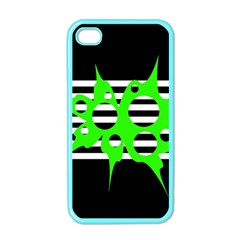 Green Abstract Design Apple Iphone 4 Case (color) by Valentinaart