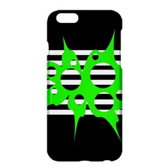 Green Abstract Design Apple Iphone 6 Plus/6s Plus Hardshell Case by Valentinaart