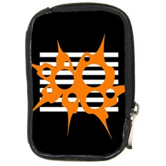 Orange Abstract Design Compact Camera Cases