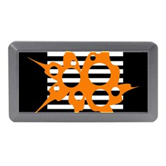 Orange Abstract Design Memory Card Reader (mini) by Valentinaart