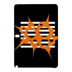 Orange Abstract Design Samsung Galaxy Tab Pro 12 2 Hardshell Case by Valentinaart