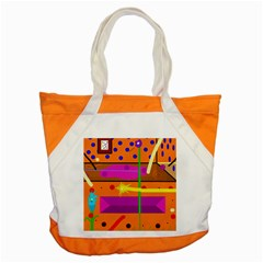 Orange Abstraction Accent Tote Bag by Valentinaart