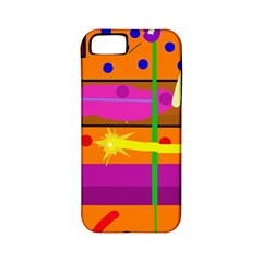 Orange Abstraction Apple Iphone 5 Classic Hardshell Case (pc+silicone) by Valentinaart