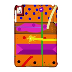 Orange Abstraction Apple Ipad Mini Hardshell Case (compatible With Smart Cover) by Valentinaart