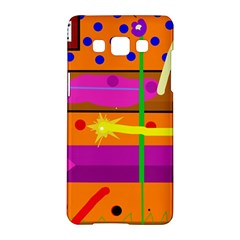 Orange Abstraction Samsung Galaxy A5 Hardshell Case  by Valentinaart