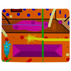 Orange Abstraction Jigsaw Puzzle Photo Stand (rectangular) by Valentinaart