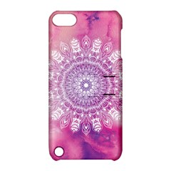 Pink Watercolour Mandala Apple Ipod Touch 5 Hardshell Case With Stand by TanyaDraws