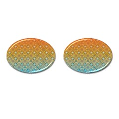 Ombre Fire And Water Pattern Cufflinks (oval) by TanyaDraws