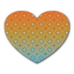Ombre Fire and Water Pattern Heart Mousepads Front