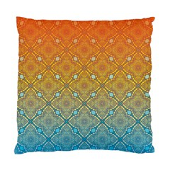 Ombre Fire And Water Pattern Standard Cushion Case (one Side) by TanyaDraws