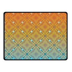 Ombre Fire And Water Pattern Fleece Blanket (small) by TanyaDraws